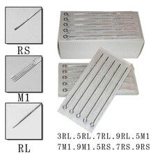 100Pcs Disposable Tattoo Needles Mix Sizes Sterile Tattoo Needle Set For Makeup Tools 3RL 5RL 5RS 5M1 7RL 7RS 7M1 9RL 9RS 9M1