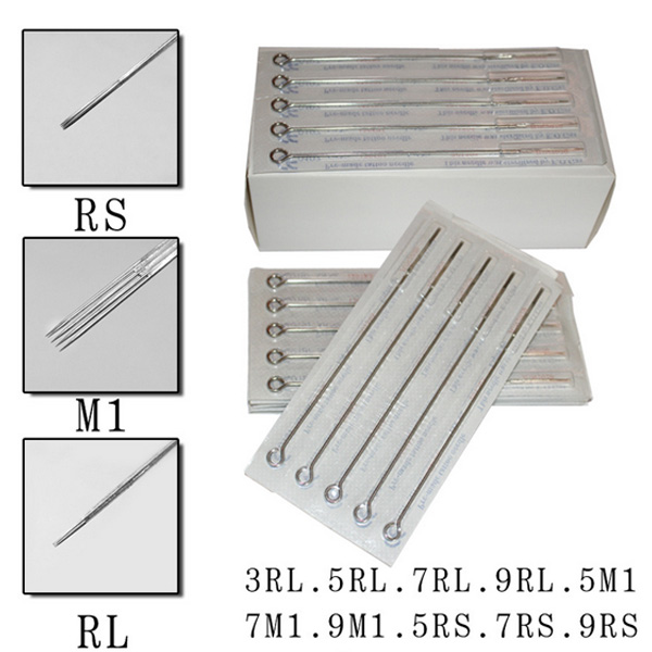 100pcs disposable tattoo needles mix sizes sterile tattoo for 5rl tattoo needle