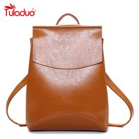 New Design Women Simple Preppy Style Leather Backpacks School Bags Students Ladies Women S Travel Leather