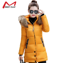 2017 New Winter Coats Women Winter Jackets Large Fur Hooded Female Long Slim Cotton Padded Parkas chaquetas invierno mujer YL953