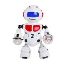 New Arrival Red Electronic Walking Dancing Smart Bot Robot Astronaut Kids Music
