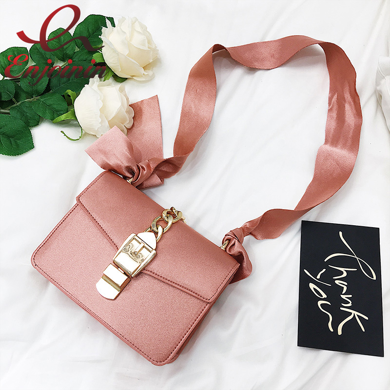 Fashion design lady ribbons bow messenger bags pu leather chain ladies shoulder bag handbag flap purse female crossbody  fun fashion personality disposable leather pu leather chain shoulder bag handbag female crossbody mini messenger bag purse