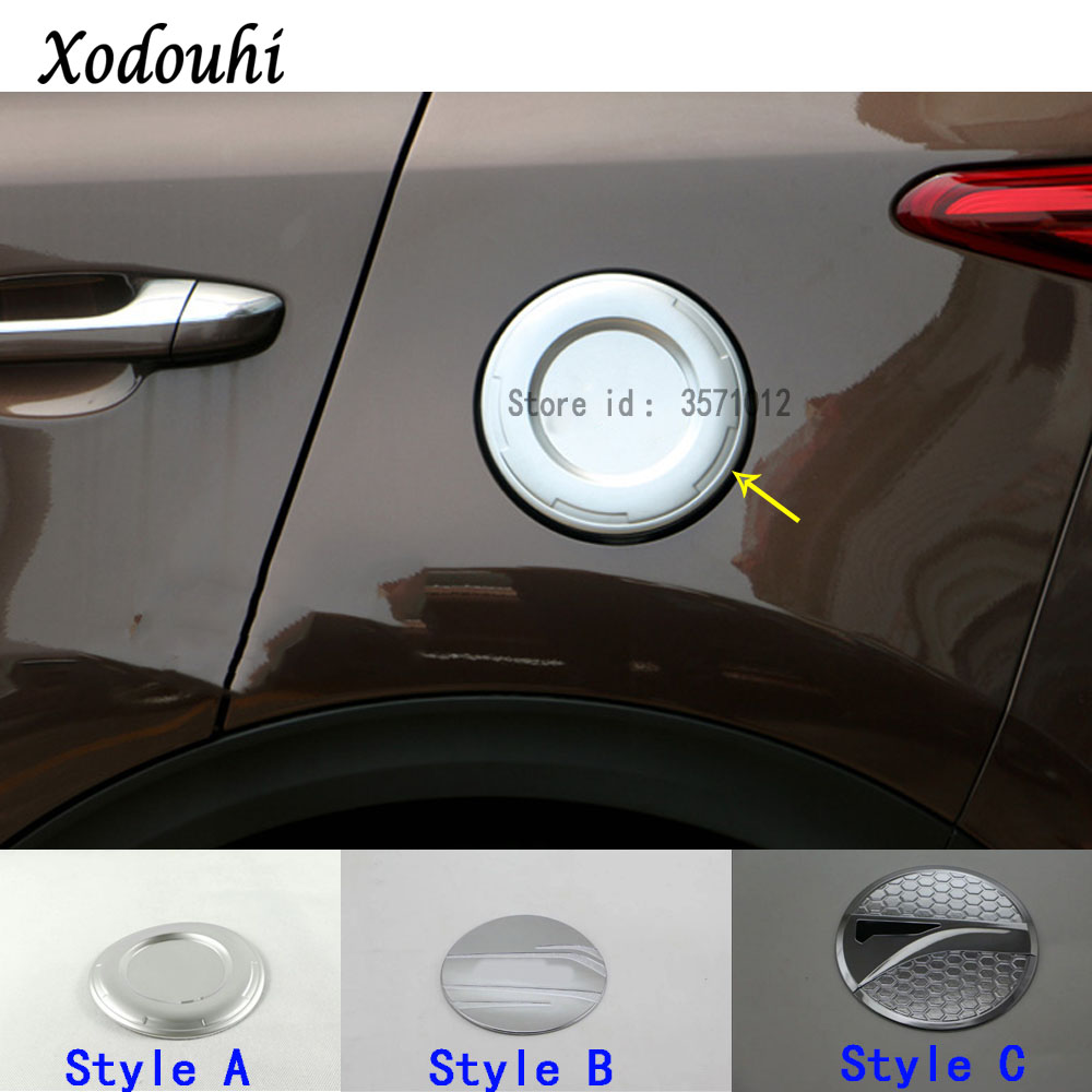 Top Quality Car ABS Body Styling Gas/Fuel/Oil Tank Cover Cap Stick Lamp Frame Trim 1pcs For Kia Sportage KX5 2016 2017 2018