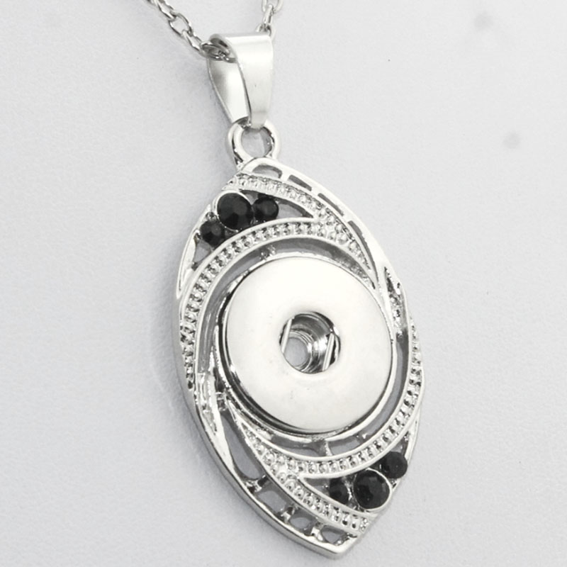 Boom Life 3 colors alloy charm necklaces with 18mm  snap button woman Pendants with crystals one direction 030603