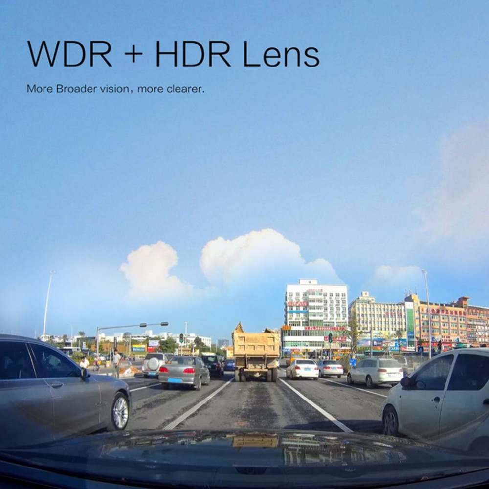Full HD 1080P Dash Cam 170 Wide Angle Car Camera Car DVR with G-Sensor Loop Recording WDR Motion Detection Super Night Vision