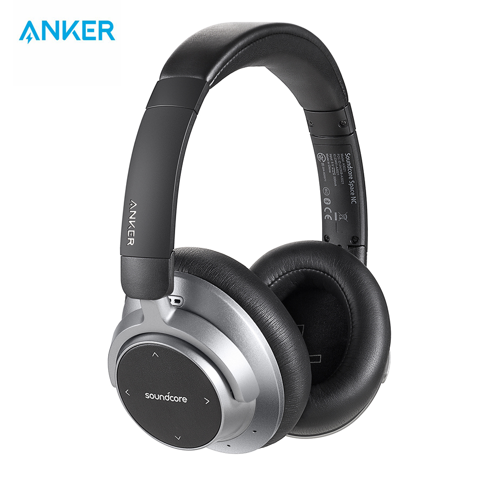 Anker SoundCore Space NC Wireless Noise Cancelling Headphones with Touch Control, 20 Hour Playtime, Foldable Design-in Bluetooth Earphones & Headphones from Consumer Electronics    1