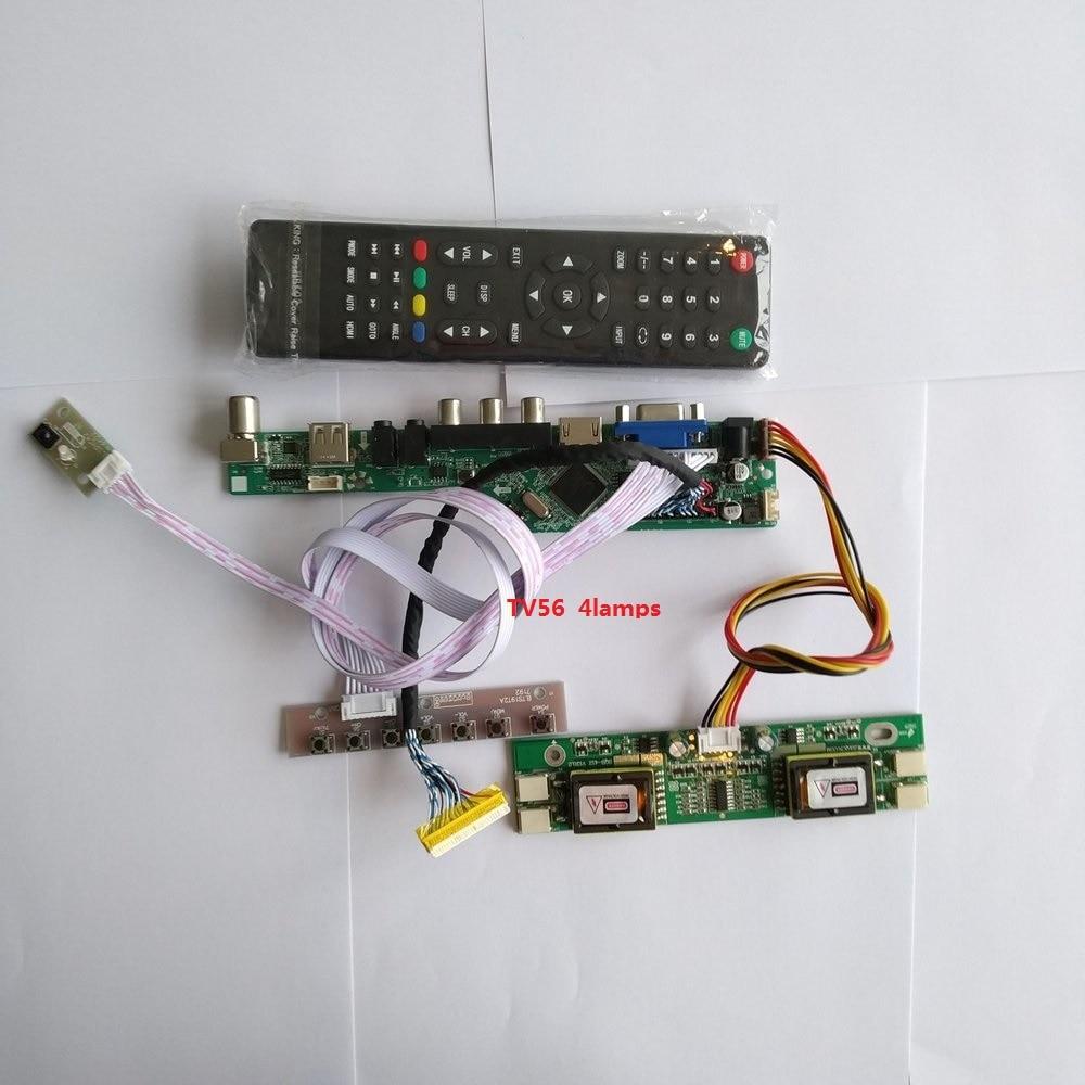 For LTM220M1-L01 VGA AV HDMI LCD Controller Board VGA Kit Resolution TV Digital Signal 30pin 4 Lamps 1680X1050 22