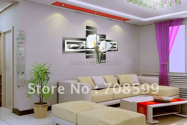 free shipping factory sale 100% handmade home decoration wall art flower oil painting M20121016