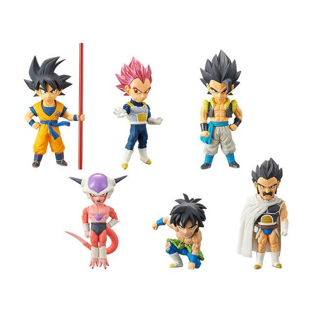 100% Origina 6 PCS Anime Dragon Ball Super WCF Broli Jiren Gogeta Goku Boerenkool Caulifla 9 cm PVC Action Figure model pop speelgoed