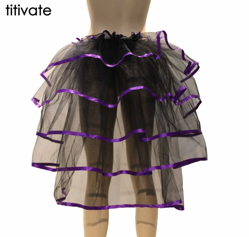 TITIVATE Animal tail ballet gown girls tutu performance dance fluffy Skirts Mid-Calf sexy party wholesale