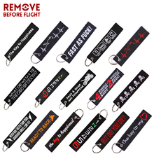 Remove Before Flight keychains For Aviation Gifts ATV Car Truck Keychain Keyring Holder  Bijoux Cars Motorcycle