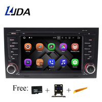 LJDA Android 7.1 Car DVD Player For Audi A4 S4 RS4 2002 2003 2004 2008 GPS navigation Multimedia WIFI Mirror link Bluetooth RDS