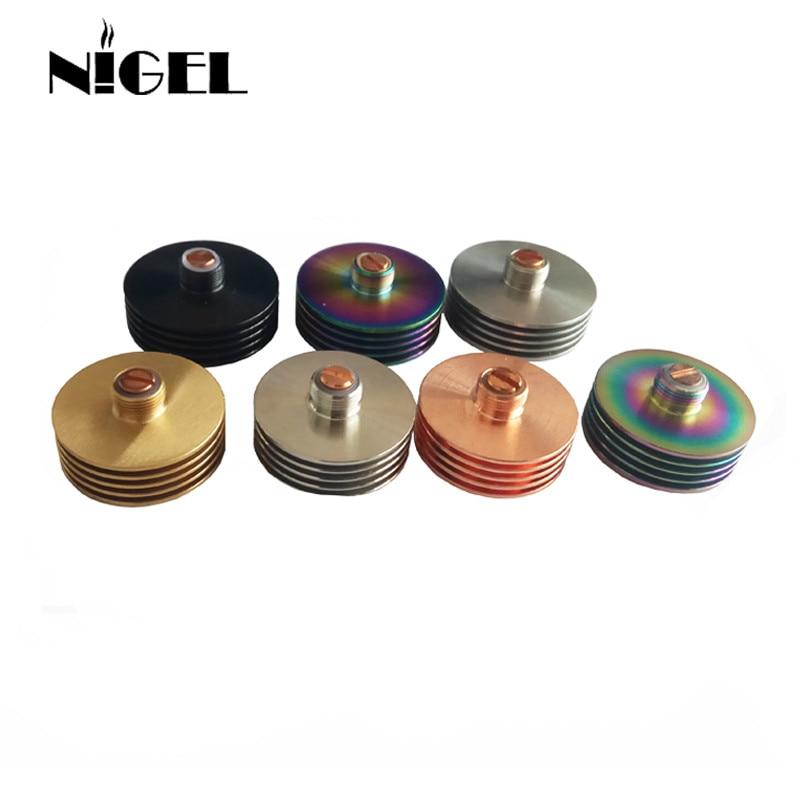 Nigel 24 MM 22MM Metal Round Colorful 510 Heat Dissipation Heat Sink Atomizer Radiator For 510 24mm RDA Tank Vape Mod Hot Sale