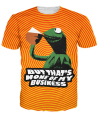 But That's None Of My Business Kermit T-Shirt 3d letter print t shirt summer style casual tee women tops tshirt