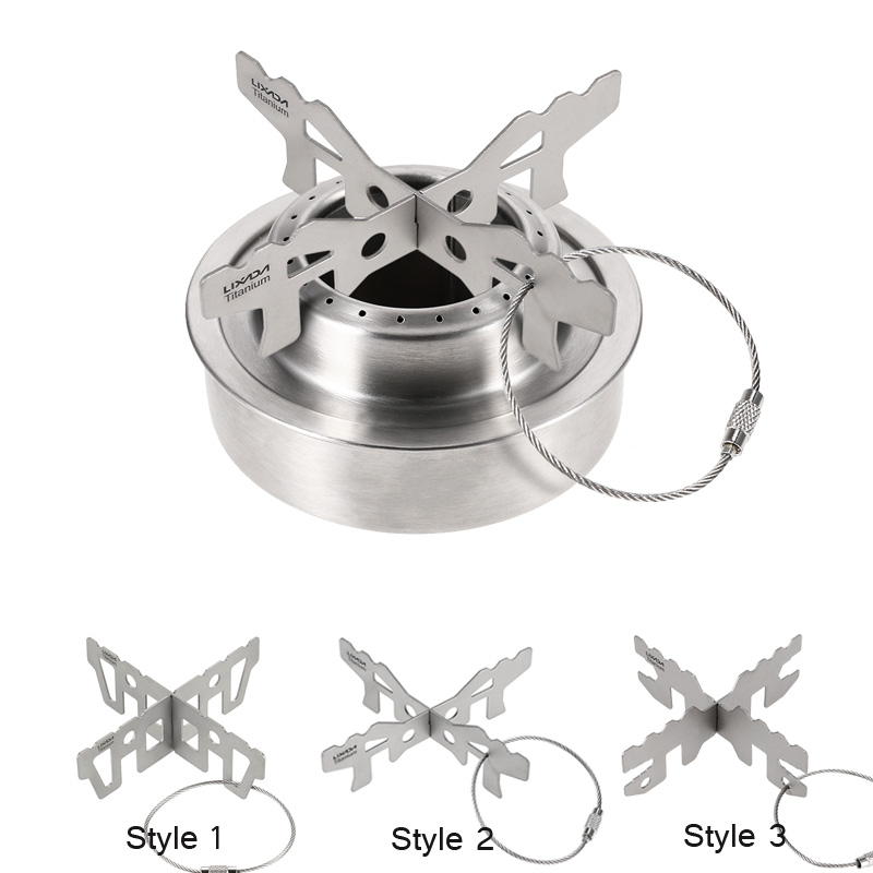 Lixada Titanium Alcohol Stove Rack Outdoor Camping Outdoor Stand Support Rack Stove Rack Cross Stand Support