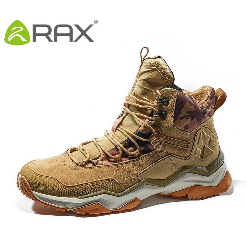 Rax Men Hiking Boots Women Winter Waterproof Mountain Climbing Shoes Male Travel Shock Damping Female Outdoor Shoes B2753
