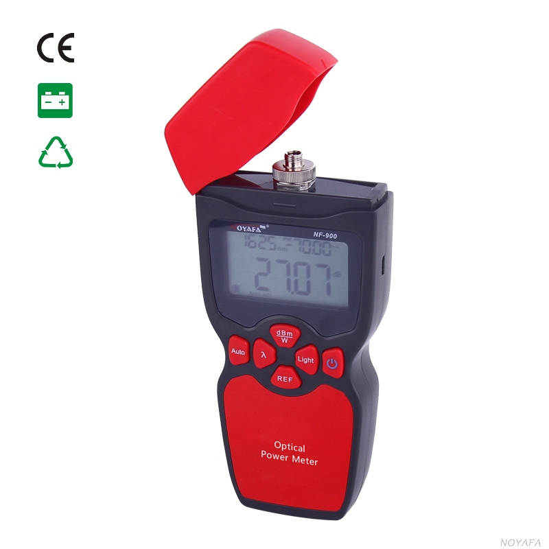 Free shipping NOYAFA NF-900 Optical power meter handheld easy use free shipping noyafa nf 906c new optical power meter 850 1300 1310 1490 1550 1625nm and detecting range dbm 50 26