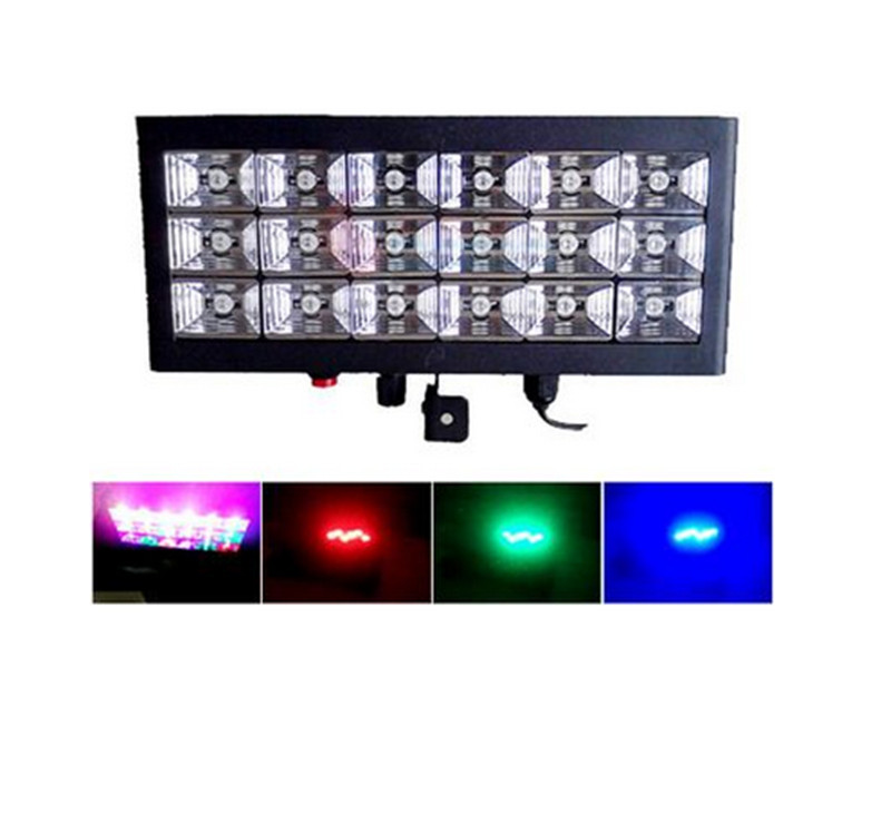 KTV  20W Voice Control Led Stage DJ Lights Strobe Ball Disco Flash Light RGB Club Party Stage Effects For The Stage AC110-240V w188a led rgb voice control stage light lamp for ktv bar party white