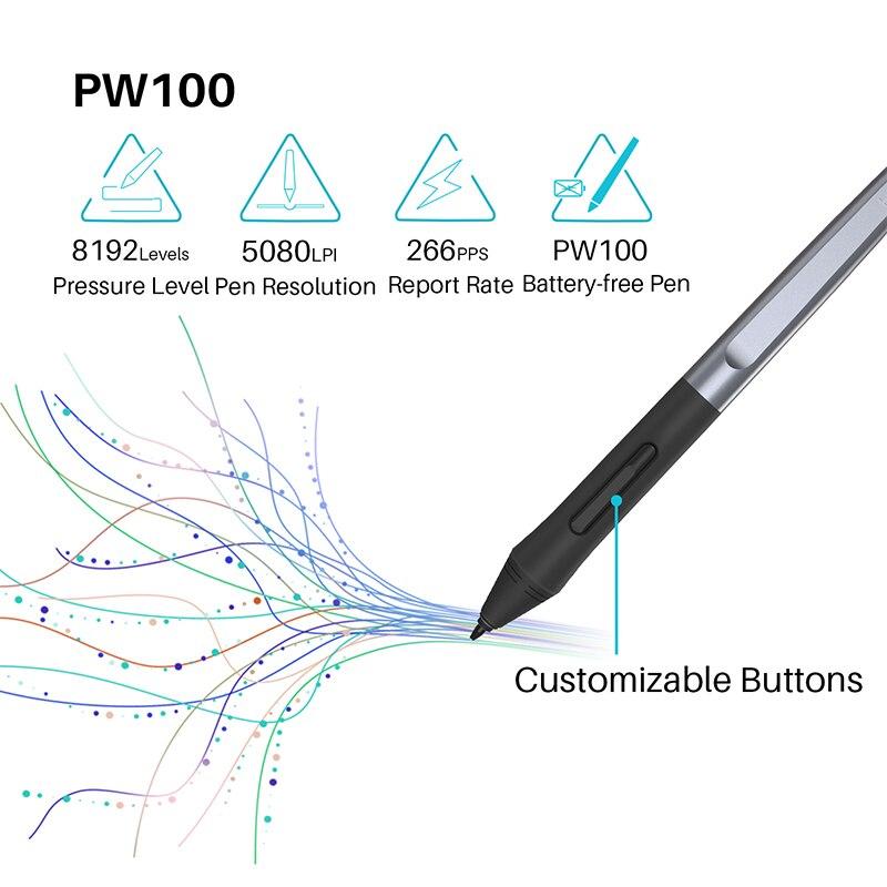 HUION HS64 6x4 pouces comprimés de dessin graphique téléphone tablette stylo tablette avec stylet sans batterie pour Android Windows macOS - 3