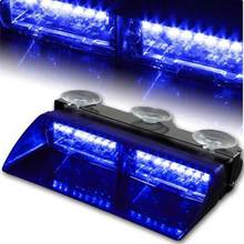WHITE  FREE SHIPPING 2014 Model GEN III 6W LED Lighting   Windscreen  LightBar police strobe light