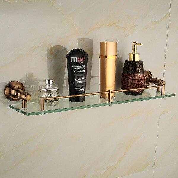 ФОТО Free shipping Antique Space aluminum glass shelf, Single bathroom shelf,shelves,bathroom accessories ,bathroom fittings 9114F