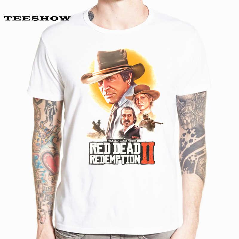 Redemption rojo muerto 2 camisetas de juego para hombre de manga corta de  verano ropa Casual 44c64c1b5216f