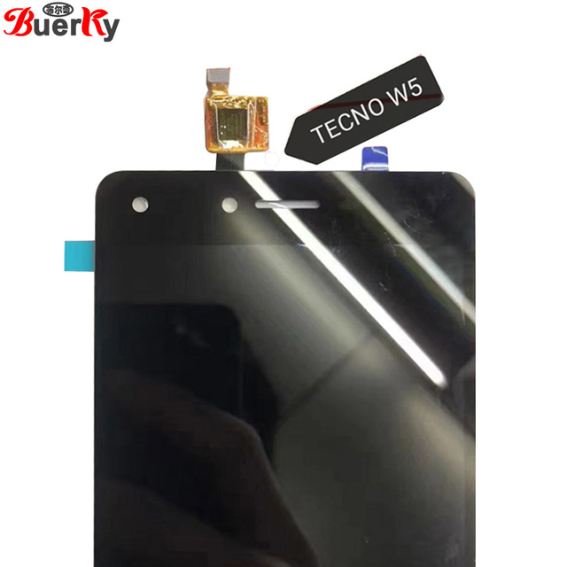 BKparts Tested LCD For Tecno W5 LCD Display Touch Screen Panel Sensor Glass  Digitizer Complete Assembly Replacement
