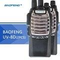 2 pcs baofeng uv-8d walkie talkie ptt uv8d rádio portátil cb radio transceiver standared bateria 2800 mah rádio em dois sentidos