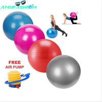 Fitness yoga topu 65 cm pürüzsüz denge pompa ile denge pilates fitness salonu egzersiz topu topları