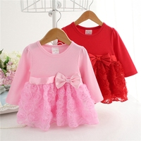 3 24M Baby Girls Dress 100 Cotton Infant Clothing Kids Clothes New Born Long Sleeves Flowers