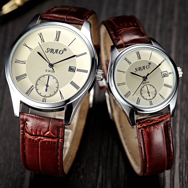 Luxury Watch Men Women Quartz Wristwatch Roman Numerals <font><b>Blu-Ray</b></font> Faux Leather Band Analog Display <font><b>Lovers</b></font> Watches Female Clock