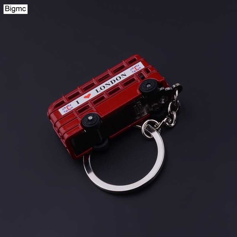 Vintage Telephone Booth British Miniature London Car Key Ring keychains Diecast Metal Keychain Gift for Women Girls K1707