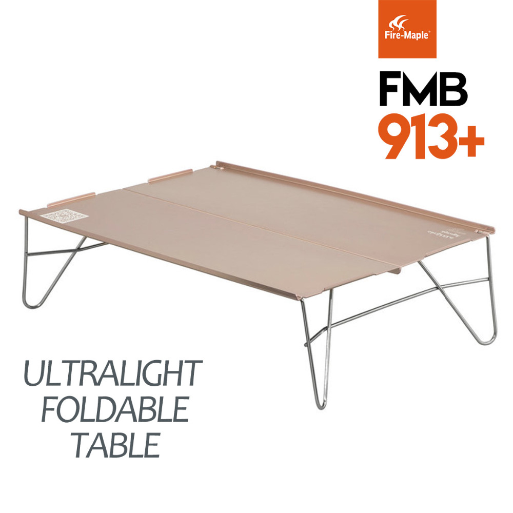 New Fire Maple FMB-913+ Portable Aluminium Alloy Folding Outdoor Camping Hiking Indoor Kitchen Picnic Tables 398g Free Shipping