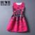 Chicas Vestido de Verano 2017 Niños Vestidos Para Niñas De 12 Años los adolescentes Sin Mangas Impreso Tamaño Grande Princesa Dress Robe Filles 7 14