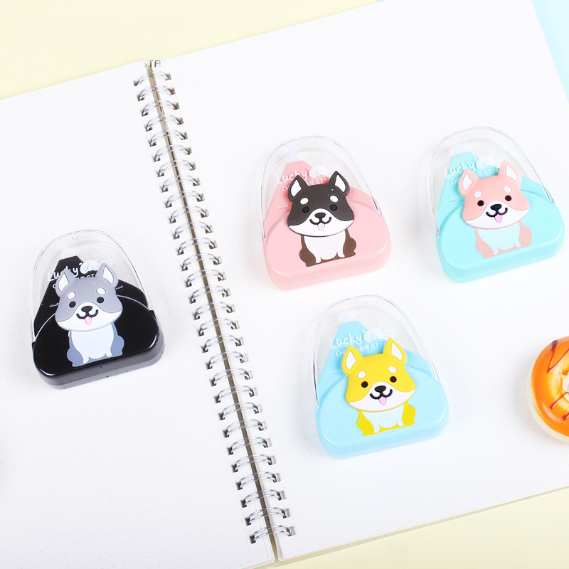 Cute Cartoon Kawaii Shiba Inu Dog Correction Tape For Kids School Supplies Materials Korean Stationery Student Papeleria