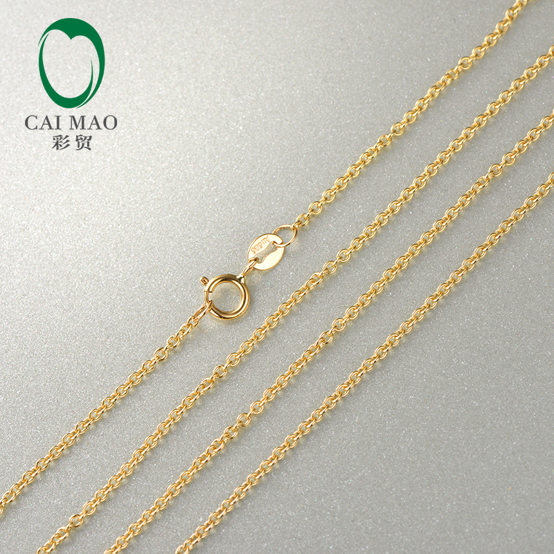 Caimao Ladies 14kt Yellow Gold Link Chain Necklace 20 About 50cm Wholesales
