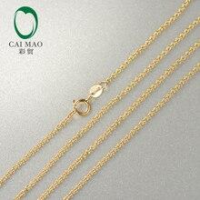"""Caimao дамы 14kt желтое золото звено цепи ожерелье 2"""" около 50 см"""