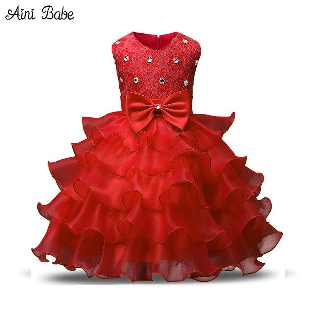 Aini Babe Mädchen Kleid Prinzessin Weihnachten Spitze Kinder Taufe ...
