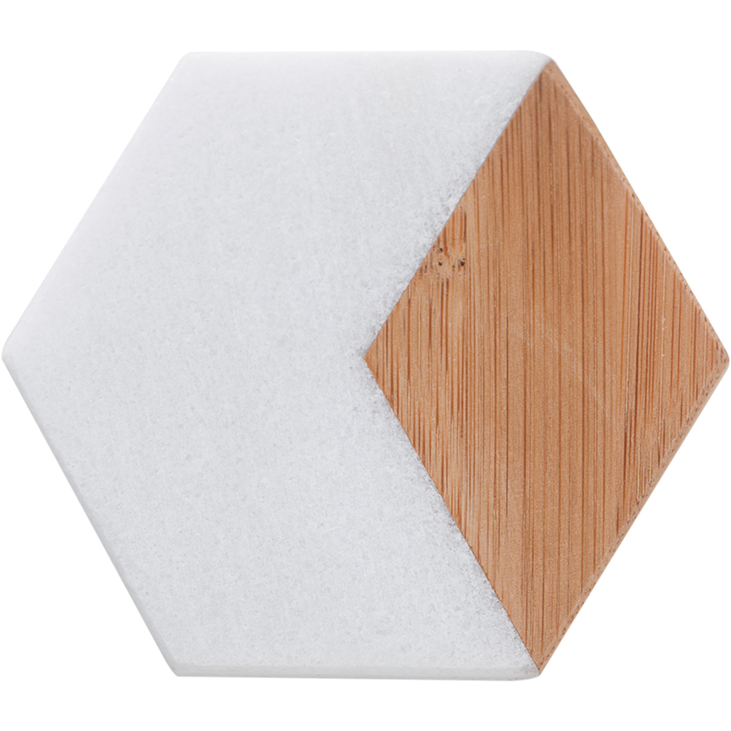 Pad Set Marbling Bamboo Geometric Hexagon Table Mat 4