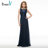 Dressv Custom Wedding Party Dress Mother Bride Dress A Line Bateau Neck Lace Embroidery Bead Pleat Formal Elegant Mother Dress
