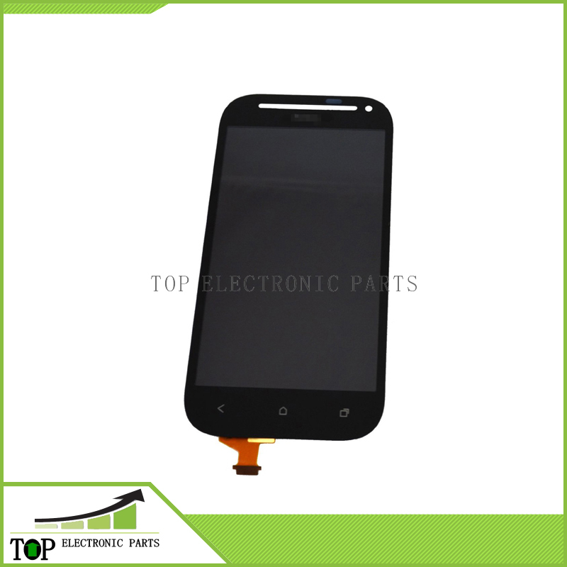 For HTC One SV LCD Display & Digitizer Touch Panel & Front Camera Hole for HTC Desire P T326h black