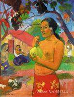 Paintings by Paul Gauguin woman holding a fruit Hand painted oil painting canvas High quality