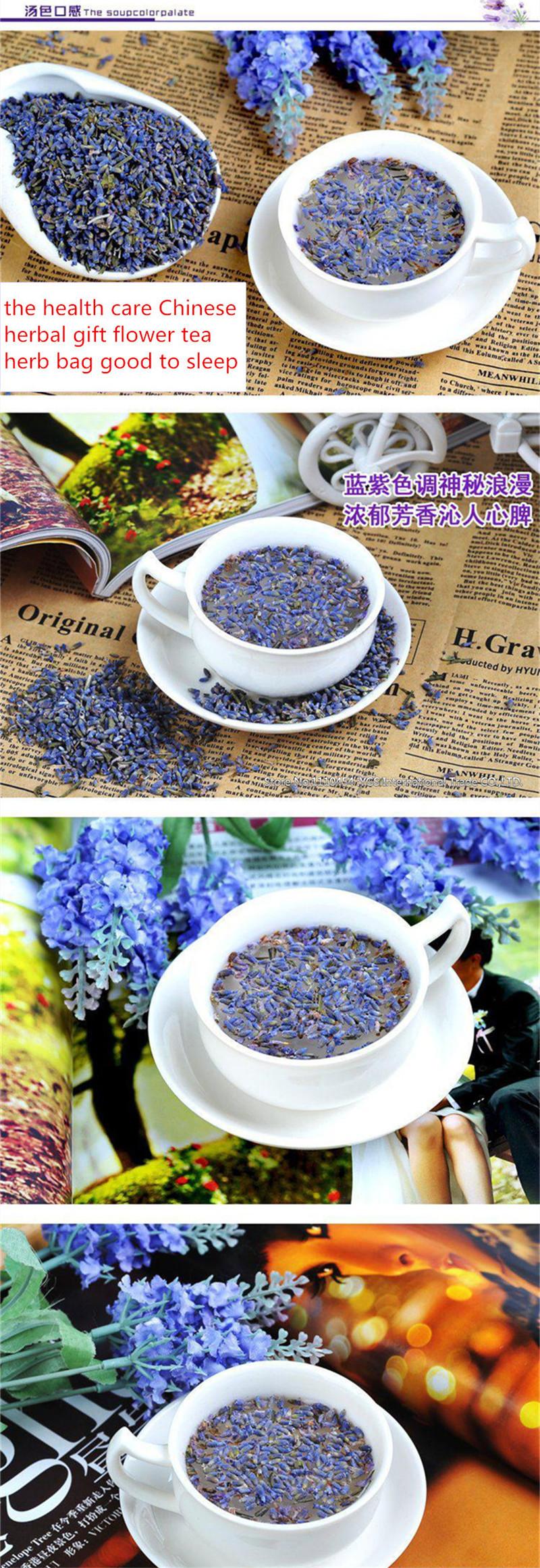 50g Lavender dried flower tea yangxinanshen sleeping the health care Chinese herbal gift flower tea herb bag good to sleep