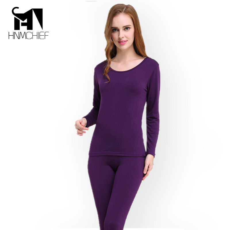 Thermal Underwear Women Long Johns Underwears Sets Woman Thermal Long Johns Slim Body Shaped Underwear 3Colour/purple Pink Brown
