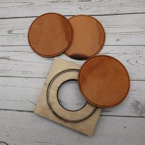 Image 3 - DIY leder handwerk tasse pad matte runde linie geprägt sterben schneiden messer form hand maschine punch werkzeug vorlage