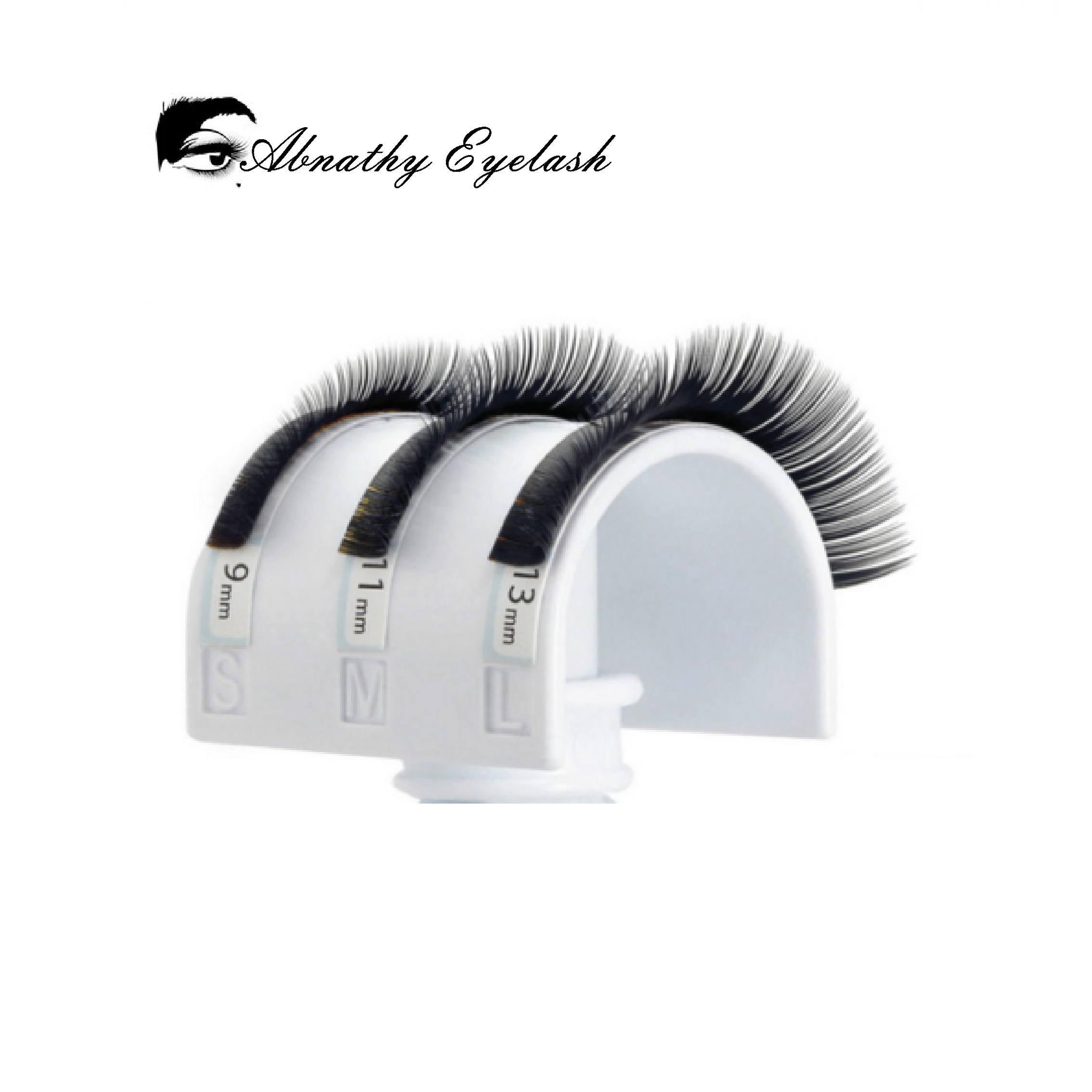 Abnathy Lashes Alle størrelser False Mink Eyelash Extensions Black - Makeup - Foto 5