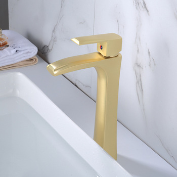 Basin Faucet Bathroom Sink Faucet Single Handle Hole Faucet Brushed Gold Basin Taps Grifo Lavabo Wash Hot and Cold Faucet