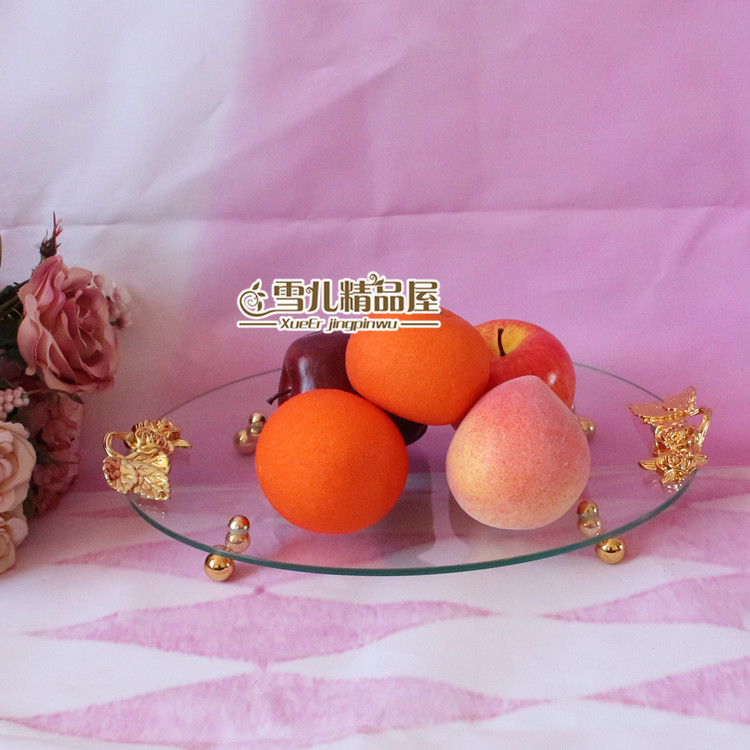 European fruit plate glass are creative cake pan basin KTV shipping
