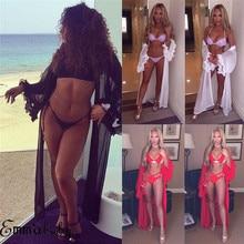 GLANE Womens Loose Kimono Cardigan Boho Beach Bikini Cover Up Top Long Lady Hot Swimming Coat