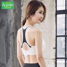 Fitness Women Summer Sports Bra Yoga Clothes High Strength Vest Type Sport Bra Top Underwear Running Speed Drying 2018